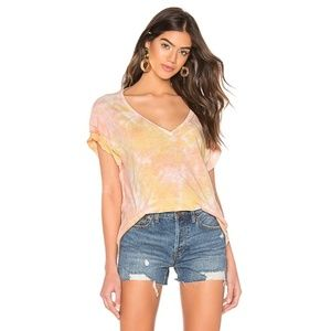 NWT Free People Slouchy Tie Dye V Neck T Shirt